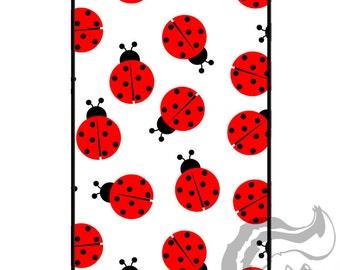 Apple iPhone 4 4S Slim Hard Case  - Ladybugs
