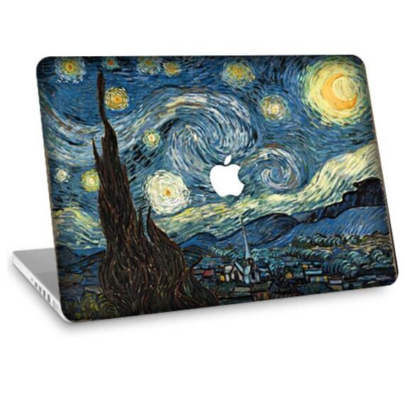 """Apple Macbook Air 11"""" 13"""" Decal Skin and Apple Macbook Pro 13"""" 15"""" Decal Skin - Van Gogh Starry Night"""