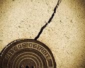 City of Detroit - 8 x 10 matted color photograph