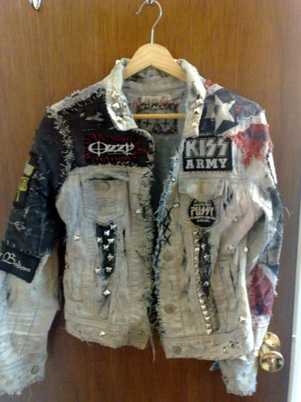 Distressed White Punk Rob Zombie Jacket By Trioxin1331 On Etsy
