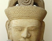 Buddah Stone Head - Decorative stone sculpture from Tailand - alexvos