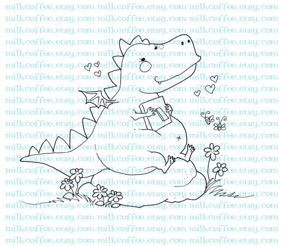 Digital Stamp Dragoo: Love is in The Air