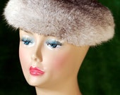 Rabbit Fur Hat Grey