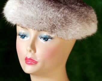 Rabbit Fur Hat Grey