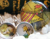 Ring and Earring Set - Run Away and Join the Circus