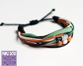 Handmade Retro Bracelet - cord and bead bracelet