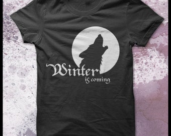 Game of thrones tshirt men's - Winter is coming