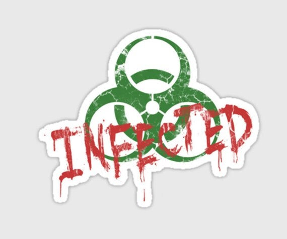 zombie sticker Infected