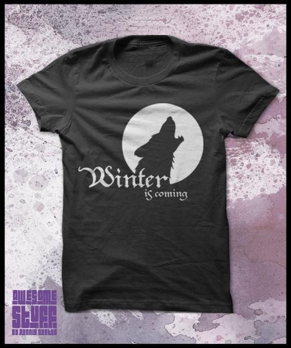 Game of thrones tshirt men's - Winter is coming