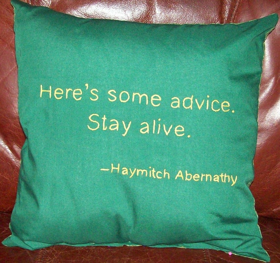 Hunger Games Inspired, Here's Some Advice, Throw Pillow