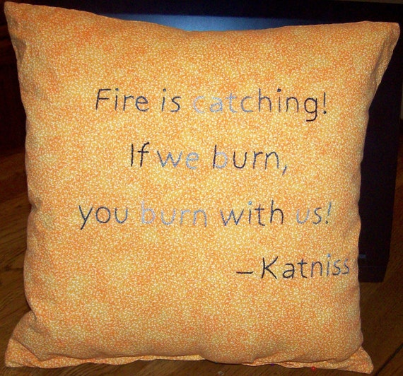 Hunger Games Inspired, Fire is Catching, Throw Pillow