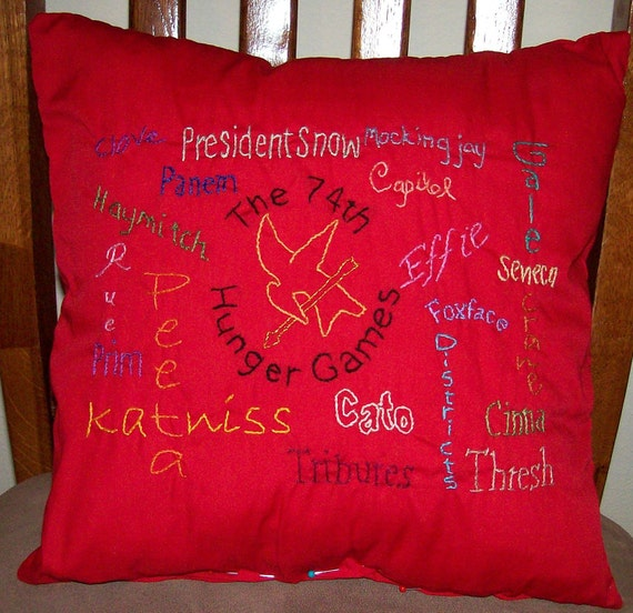 Hunger Games Inspired 74th Hunger Games Collage Pillow