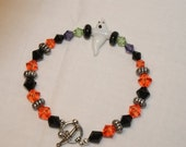 Halloween Bracelet With Glass Lampwork Beads