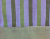 RESERVED FOR CHRSTINE Green Stripe Flat Twin Sheet Pequot
