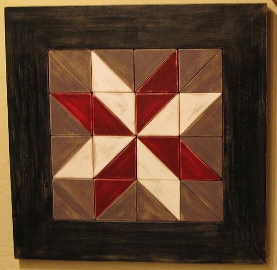Rustic Star Wooden Quilt Square Wall Hanging by ...