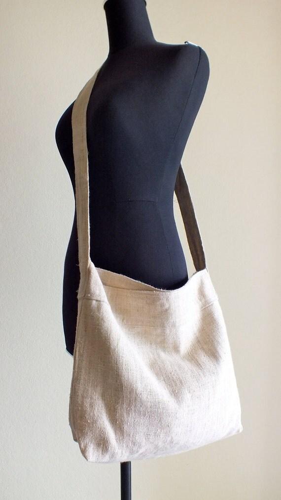 Handwoven hemp tote and bohemian, Handbag,Diaper bag,messenger from Thailand