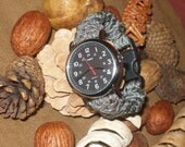 INDIGLO WEEKENDER Survival Watch - Cobra 550 paracord - modern - upscale - camoflauge band - Choose Size