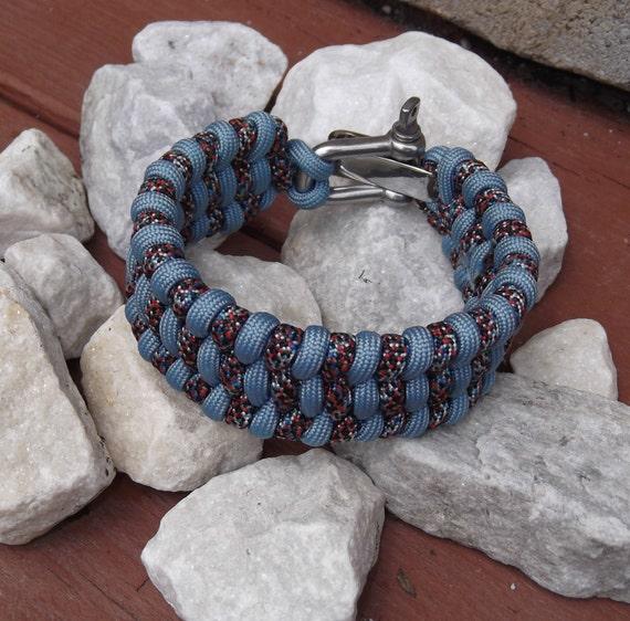 LADDER STEP paracord SURVIVAL Bracelet - Man or woman