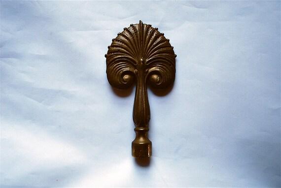 Quintessential and Rare Art Deco Bronze Finial, 1920s, Very Erté, Very Peacock
