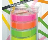 OH MY Motex FLUORO Pack Embossing Label Maker Refill Tapes (9mm x 3m)
