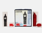 Yellow Owl Workshop London Stamp Set (Big Ben and London Cab) In Gift Box