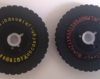 OH MY Motex E101 Set of Two Wheels (Emoticon Uppercase and Symbol Lowercase)