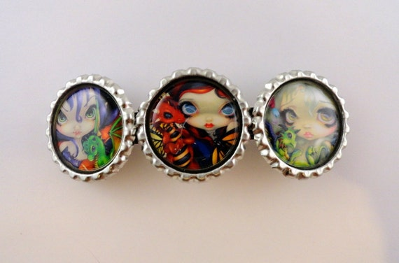 """Jasmine Becket-Griffith  """" Just the Two of Us """"  hair barrette"""