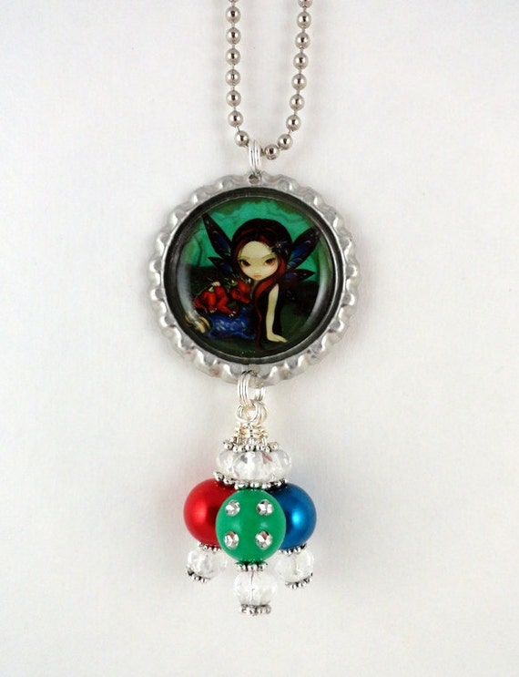 "Jasmine Becket-Griffith  "" Dragonling Garden 1 ""  Necklace"
