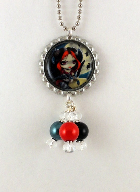 """Jasmine Becket-Griffith  """"  Once Upon a Midnight Dreary """"  Necklace"""