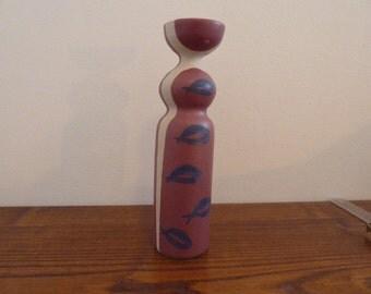 """Vintage stoneware vase scandinavian designe mid century marked 9,5"""""""