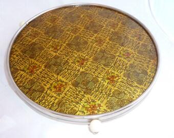 Vintage retro cake plate Amber glass