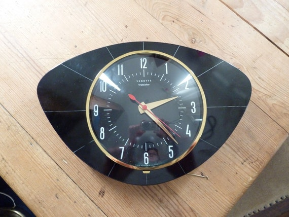Vintage french Vedetta transistor wall clock