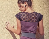 10% DISCOUNT-Purple mini dress with lace
