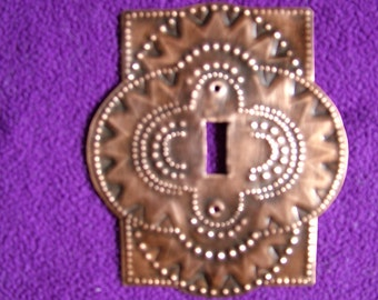 Copper Switch Plate, Circles and Triangles
