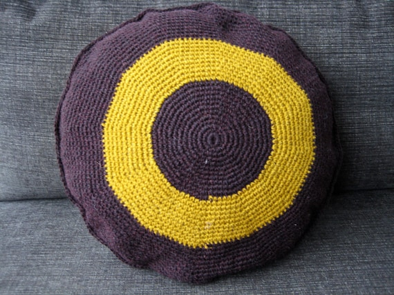 Contemporary Crochet Cushion in Axminster Wool