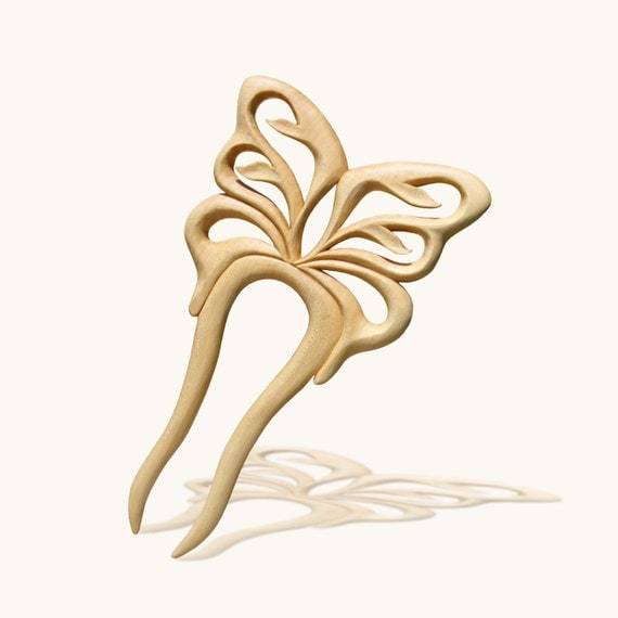 "Hair Fork Wedding Bridal ""Butterfly"" MariyaArts"
