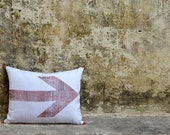 FREE SHIPMENT- Hand block printed silk cushion