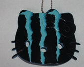 LARGE blue monster energy drink soda pop can hello kitty eco recycled upcycled necklace