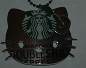 starbucks x hello kitty recycled upcycled eco necklace