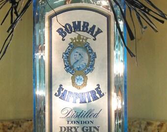 Lighted Bombay Bottle