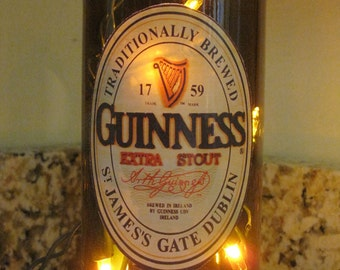 Lighted Bottle Guinness Beer