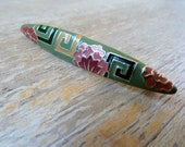Vintage Bar Pin Art Deco style Enameled Brooch