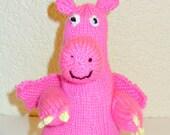 Dinosaur plush pink dinosaur, cuddly toy dinosaur