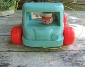 Old vintage 1965 Fisher Price milk wagon with great graphics