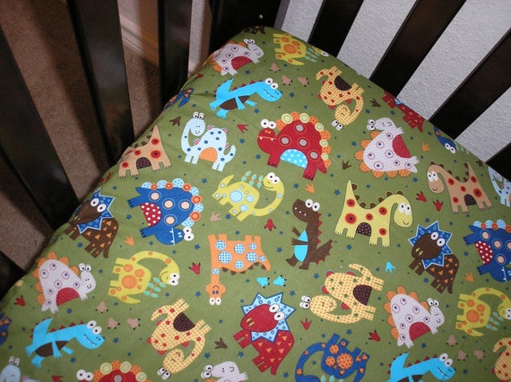 Very Cute Dinosaur Toddler Bed Or Crib Fitted Sheet