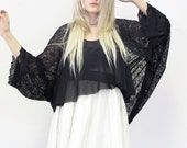 Romance Lace Bat wing slouch Tunic Cover All