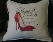 Wizard of Oz-Dorothy's Shoes Design on 16x16 Pillow Cover by Nana and Me Creations