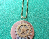 Wonder Mixed Metal Hand Stamped Necklace