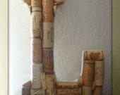Wine Cork Art Letter