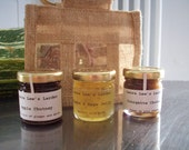 Trio of Savoury Preserves/Chutney in Jute Gift Bag